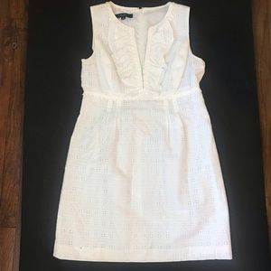 Nine West white eyelet dress